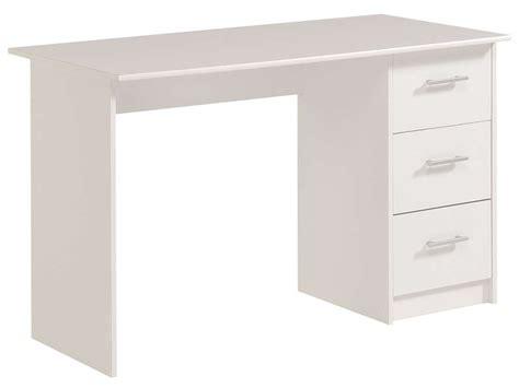 bureau blanc tiroir bureau 3 tiroirs infinity coloris blanc vente de bureau