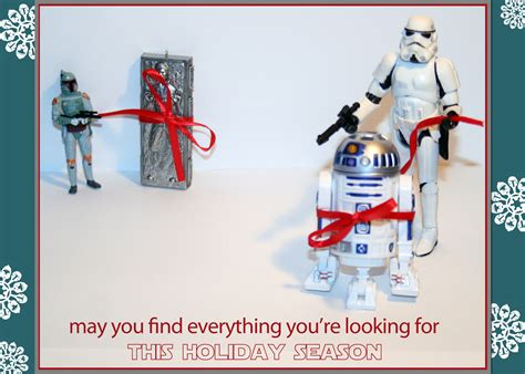 This fun christmas card is the perfect way to send season's greetings to star wars fans of any age. geek with curves: 7 Geeky Holiday Cards