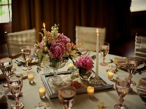 vintage wedding table decorations