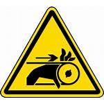 Entanglement Warning Label Hazard Belt Safety Clipart