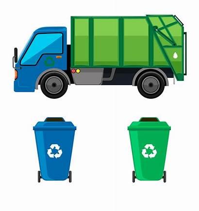 Garbage Truck Waste Clipart Vehicle Disposal Motor