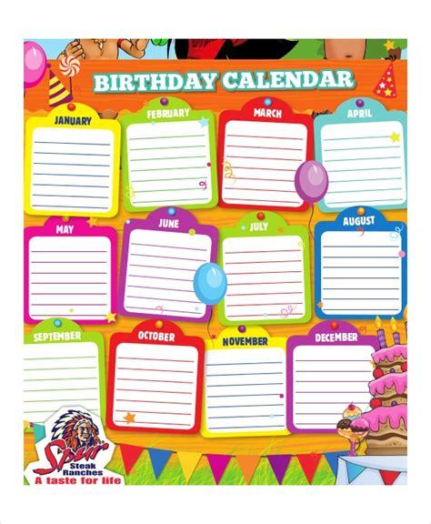 birthday calendar   word  psd documents