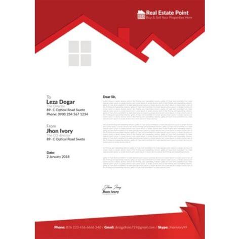 real estate letterhead templates  ai indesign