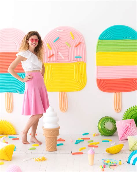 popsicle balloon wall