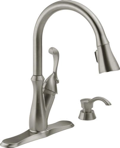 Delta Kitchen Faucets At Menards by Delta 174 Arabella 1 Handle Pull Sprayer Kitchen Faucet
