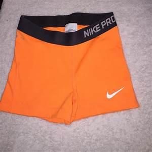 Nike Shorts 26 On Womens Nike Pro 3 Shorts Orange Sz S