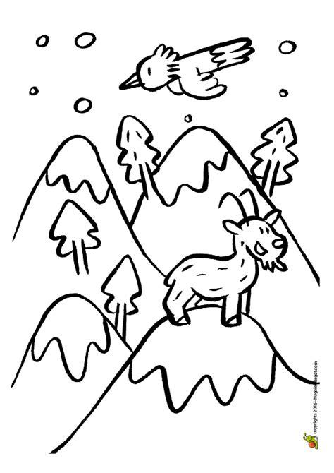 jeu de cuisine gratuit avec dessin à colorier d 39 une montagne sous la neige