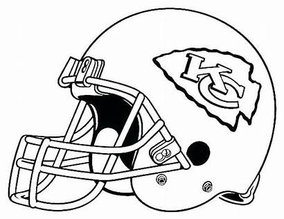 Coloring Pages Nfl Chiefs Helmet Football Dolphins