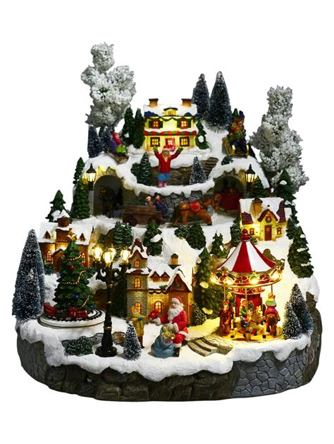 illuminated animated musical christmas snowy hillside