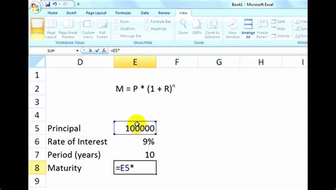 excel compound interest template excel templates
