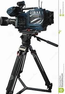 Tv Professional Digital Video Camera On Tripod Royalty Free Stock Photo