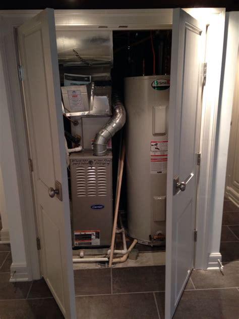 water heater  furnace closet basement ideas