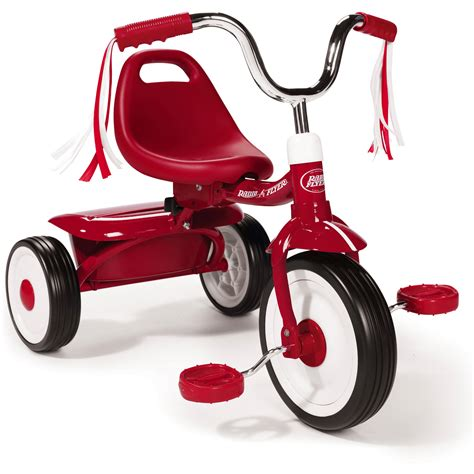 radio flyer ready  ride folding tricycle red walmart