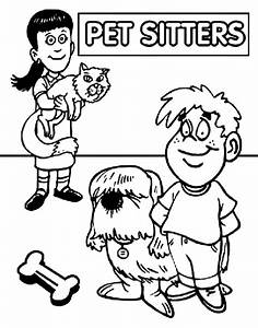 Pet Sitter's Day Coloring Page | crayola.com
