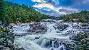 2560x1440, Waterfall, Stones, Rocks, 1440p, Resolution