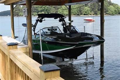 Boat Lift Dock Lifts Clipart Lake Docks