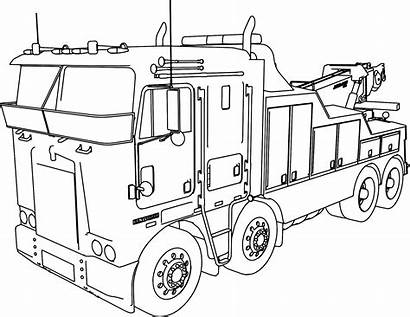 Truck Coloring Pages Ups Trailer Printable Getcolorings