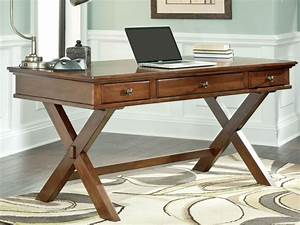 Solid wood home office desks office interior with rustic for Wood office desk furniture