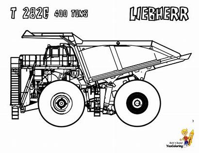 Coloring Dump Truck Pages Dirty Construction Kenworth