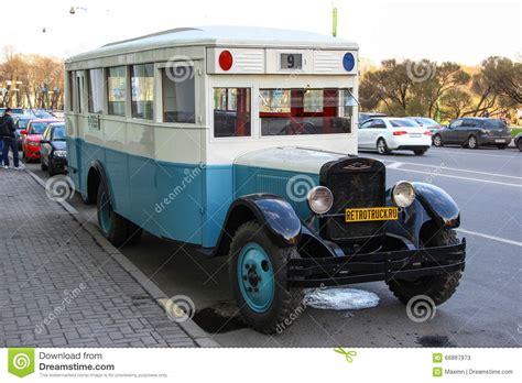 saint petersburg russia     vintage bus zis
