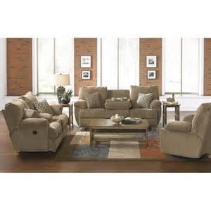 catnapper gavin 3 piece reclining console sofa set in