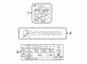 Lincoln Mkz Engine Decal  Hybrid  Tools  Labels