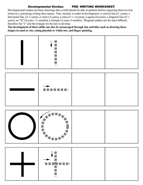 pre writing activities for preschoolers 9 best images of pre writing skills printable worksheet 156
