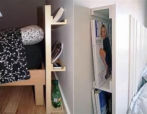 Kopfteil Bett Selber Machen Ikea : bilderleisten als versteckter stauraum hinter bett kopfteil diy in 2019 headboards for beds ~ Watch28wear.com Haus und Dekorationen