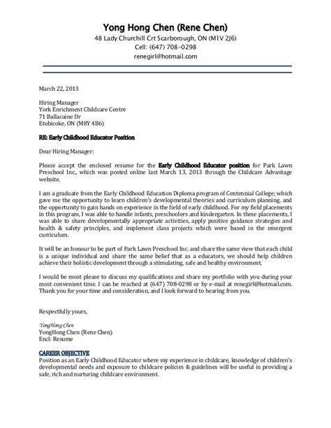 cover letter  resume rene
