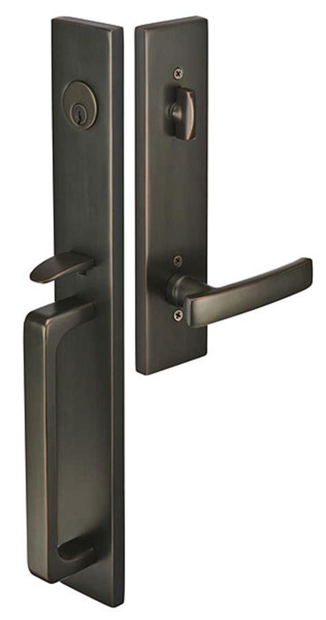 front door handleset emtek door hardware emtek lausanne entrance handleset