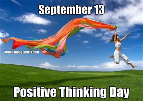 september  positive thinking day positive thinking day