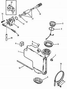 Mercury Marine 60 Hp  3 Cylinder  Oil Injection Components