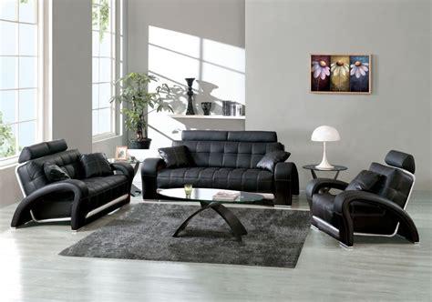 living room design ideas  modern black leather