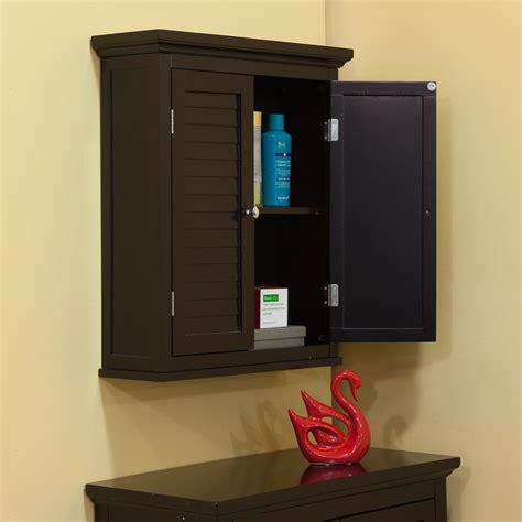 Espresso Bathroom Wall Cabinet  Home Furniture Design