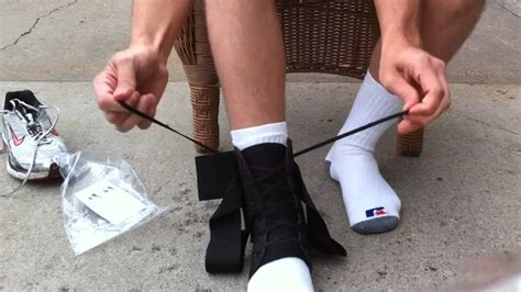 wear  aso ankle brace youtube