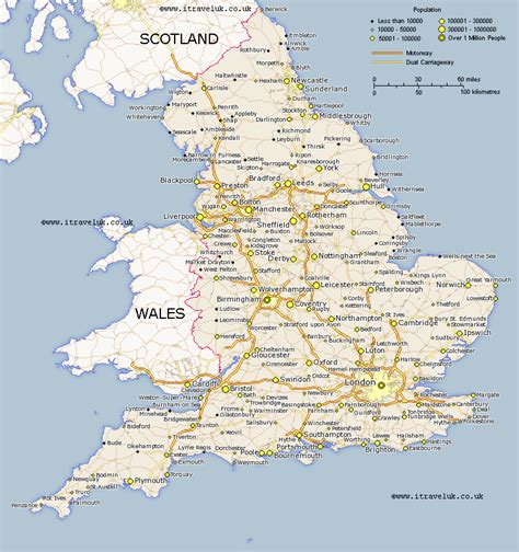 Carte Angleterre Grandes Villes by Map Of Free Offline Use Of Maps