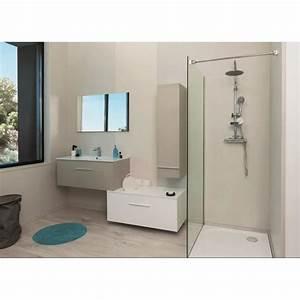 Meuble Haut De Salle De Bain : terry meuble haut de salle de bain 90cm taupe et gris ~ Louise-bijoux.com Idées de Décoration
