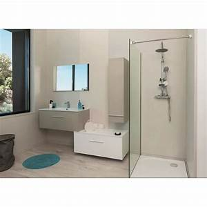 terry meuble haut de salle de bain 90cm taupe et gris With meuble haut salle de bain gris