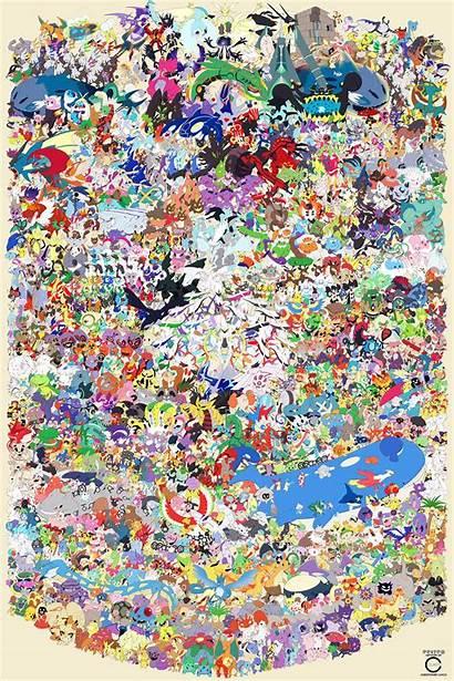 Pokemon Poster 800 Artist Draws Were Different