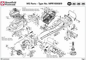 Mpr10008 Mpr10009 Mountfield M3 Pre 2002 Machine Diagram