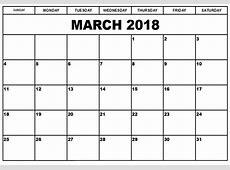 March 2018 Calendar March 2018 Printable Calendar – Pata