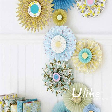 how to hang paper fans on wall decorative standing fans handmade craft polka dot hanging