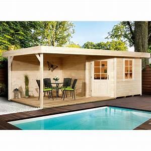 Weka Holz Gartenhaus San Remo B Natur BxT 601 Cm X 298 Cm
