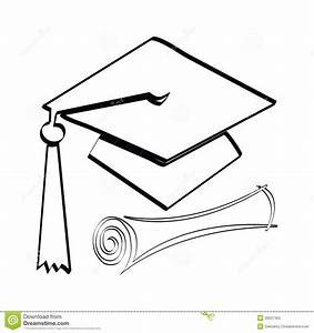 Diploma and cap stock illustration. Illustration of ...