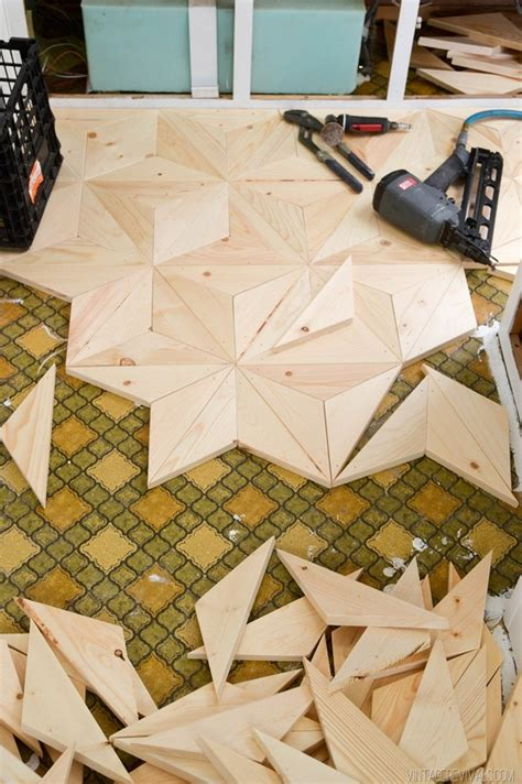 wood flooring diy make your own geometric wood flooring man made diy crafts for men keywords decor floor