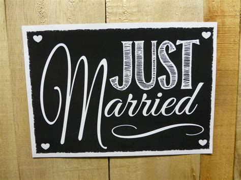 vintage chalk style  married wedding print sign car