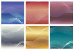 square background set with wavy patterns free