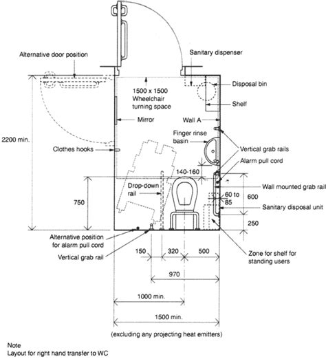 Typical Bathroom Electrical Layout by Typical Unisex Restroom Dimensions Search