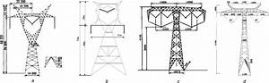 Schematic Diagrams Of Typical Line Towers A 1000 Kv Single