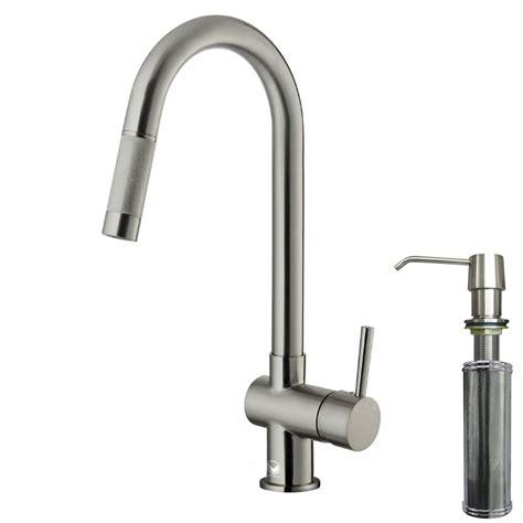 single handle pull out kitchen faucet vigo single handle pull out sprayer kitchen faucet with